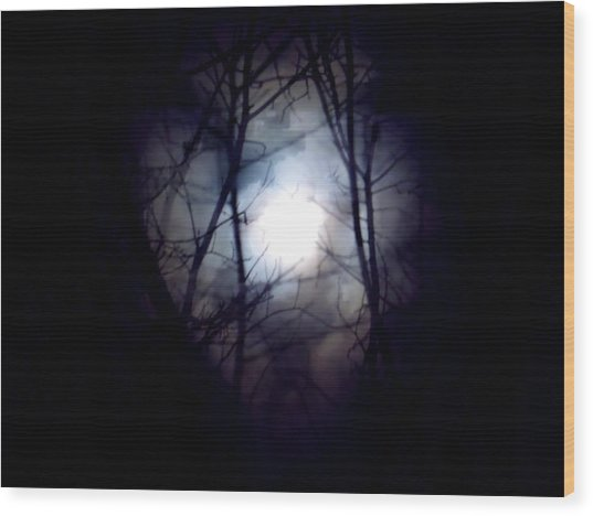 Witch's Moon Wood Print