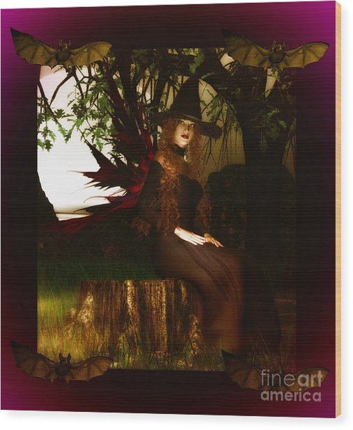 Witchy Woman Wood Print