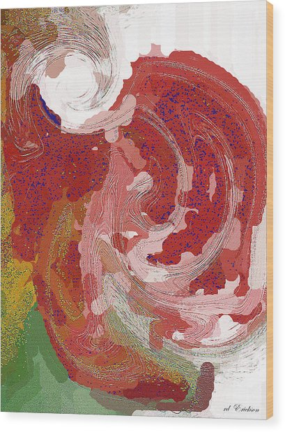 With A Swirl Of Skirt Wood Print by Roy Erickson