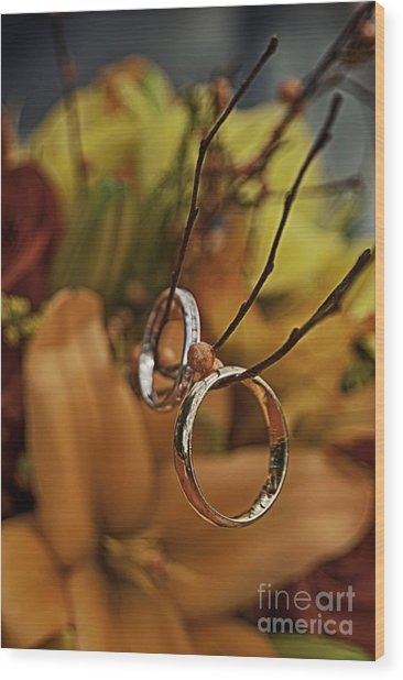 With This Ring Wood Print