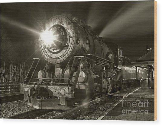 Wmsr Engine 734 At The Frostburg Depot Wood Print