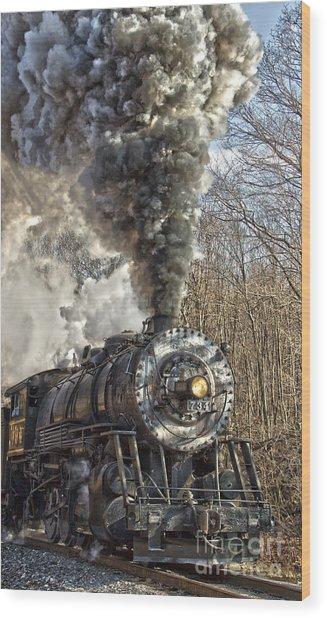 Wmsr Engine 734 Wood Print