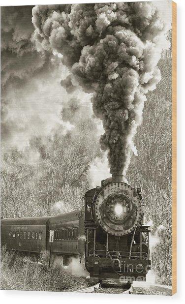 Wmsr Steam Engine 734 Wood Print