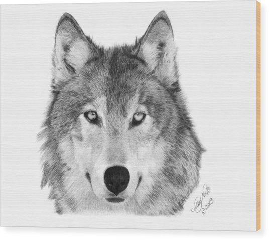 Wolf - 004 Wood Print