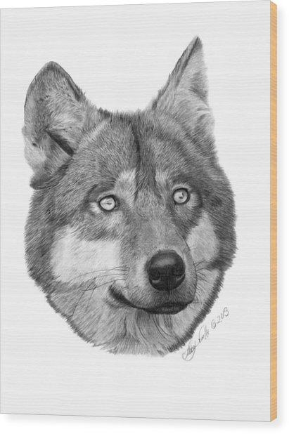 Wolf - 017 Wood Print