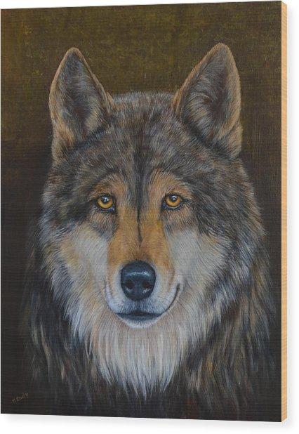 Wolf Alpha Wood Print