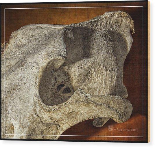 Wolf Bone Wood Print