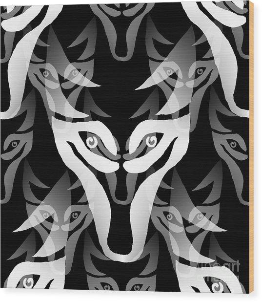 Wolf Mask Wood Print
