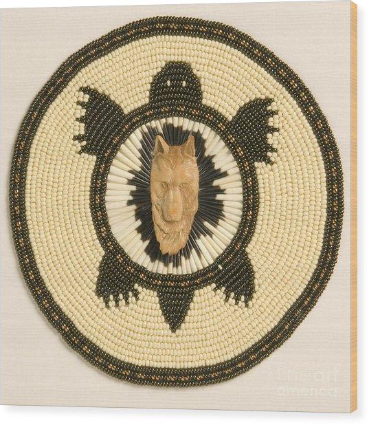 Wolf Turtle Wood Print