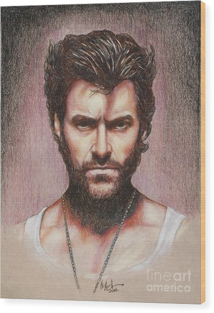 Wolverine Wood Print