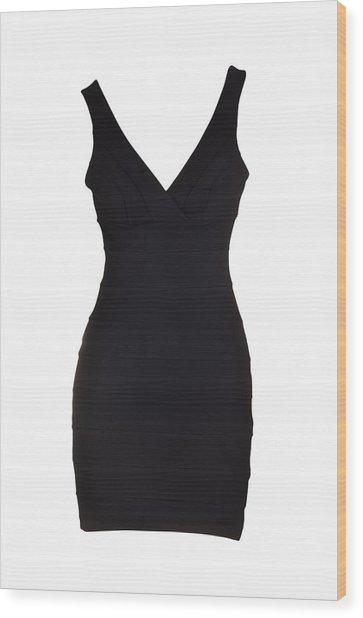 Woman Dress Wood Print by Dendong
