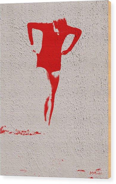 Woman Emerging -- Version J Wood Print by Brian D Meredith