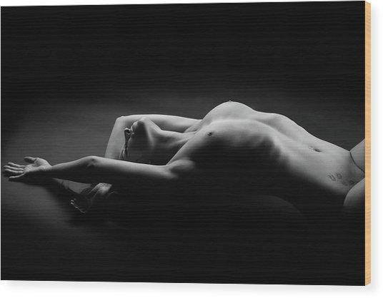 Woman Wood Print by Jan Blasko