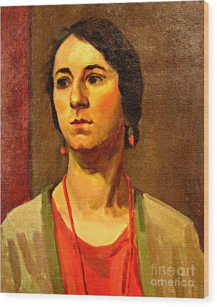 Woman Of 1929 Wood Print