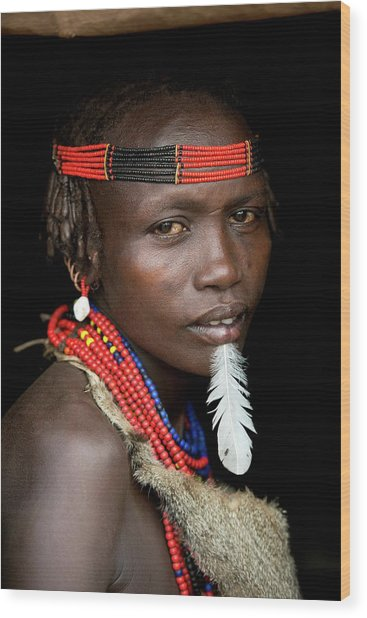 Woman Of The Dassenech Tribe Wood Print