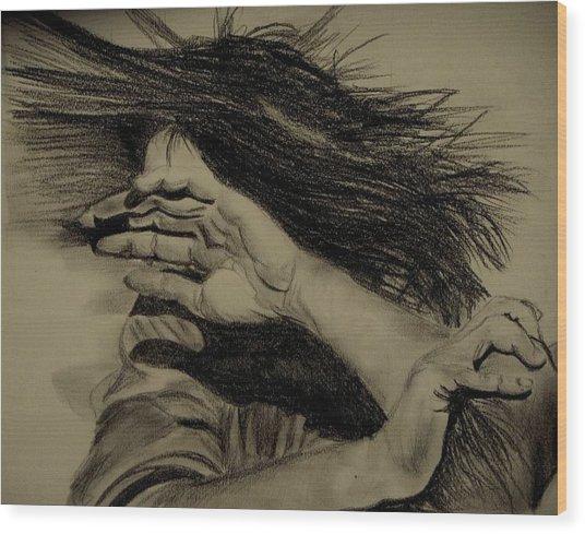 Women Abuse Wood Print by Umme Kulsoom