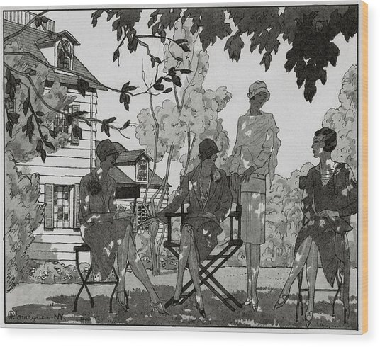 Women At The Woman's National Golf Club On Long Wood Print by Pierre Mourgue