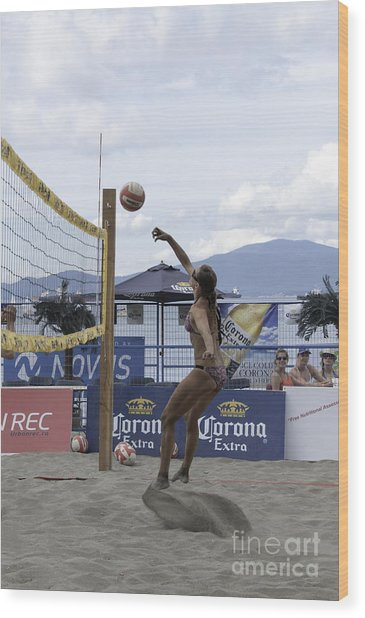 Women's Volleyball Game Wood Print