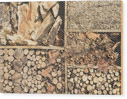 Wood And Straw Wood Print