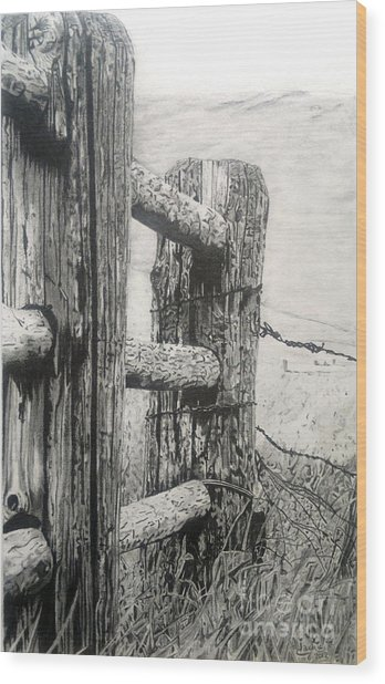 Wood And Wire Wood Print