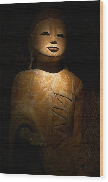 Wood Buddha Statue Wood Print