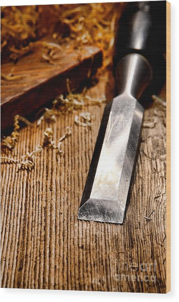 Wood Chisel Wood Print