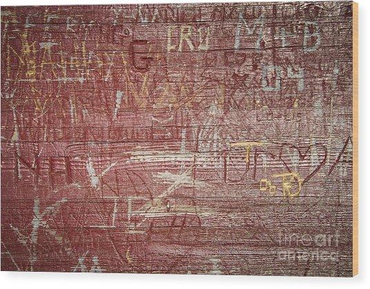 Wood Graffiti Wood Print