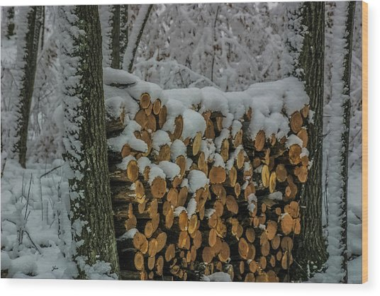 Wood Pile Wood Print