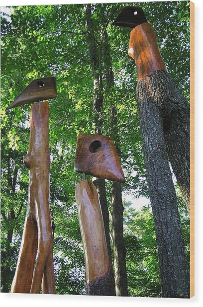 Wood Sculptures Wood Print
