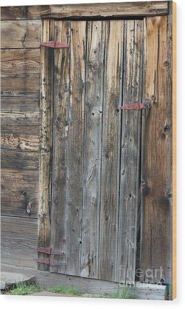 Wood Shed Door Wood Print