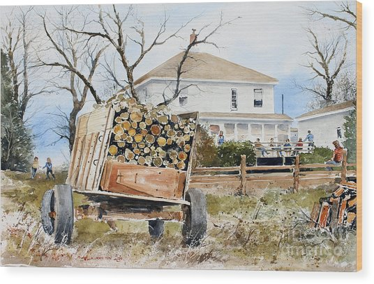 Wood Wagon Wood Print