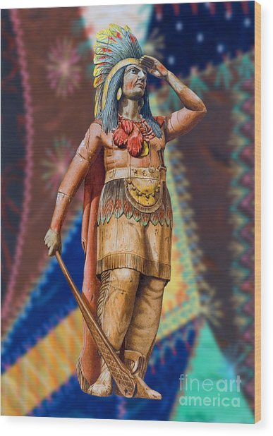 Wooden American Indian Wood Print