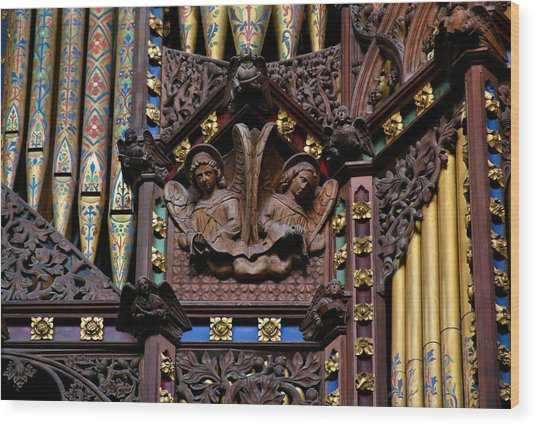 Wooden Angels Ely Cathedral Wood Print