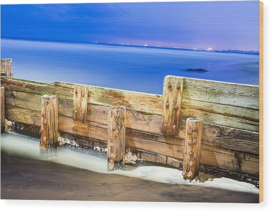 Wooden Break Wall Wood Print by Joe Belanger