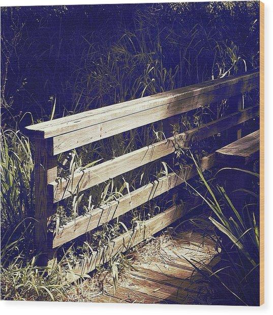 Wooden Bridge Wood Print by Beth Williams