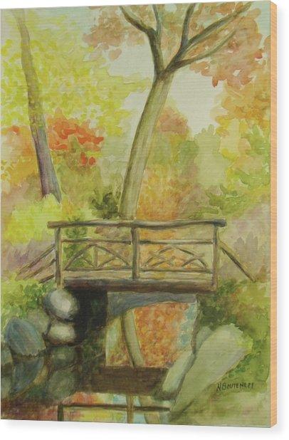 Wooden Bridge Central Park  Wood Print
