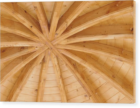 Wooden Ceiling  Wood Print by Ioan Panaite
