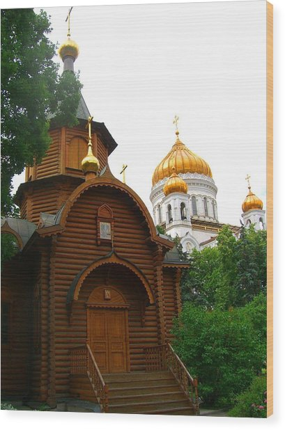 Wooden Church Wood Print