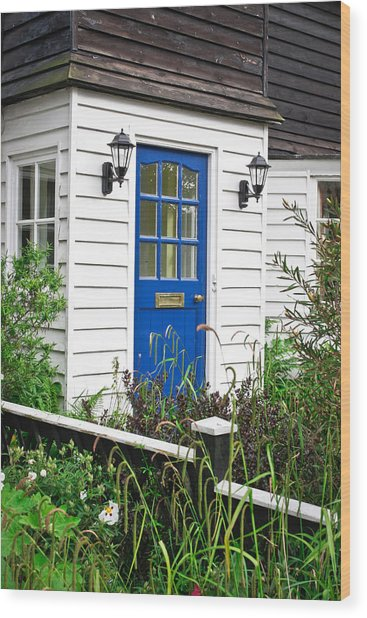 Wooden House Wood Print