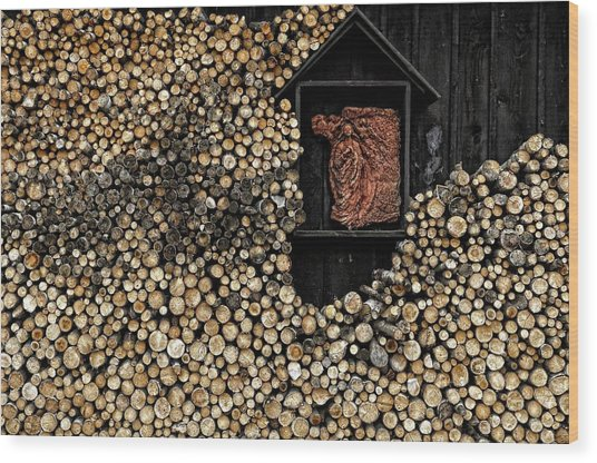 Wooden Madonna Wood Print