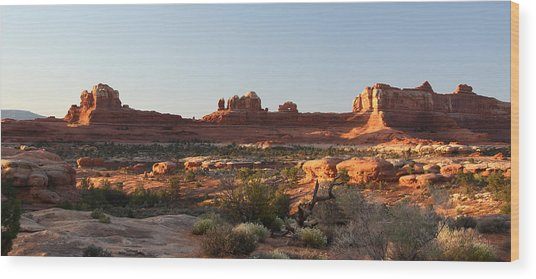 Wooden Shoe Arch In Canyonlands Np Wood Print