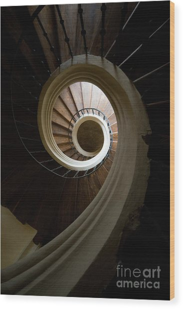 Wooden Spiral Wood Print