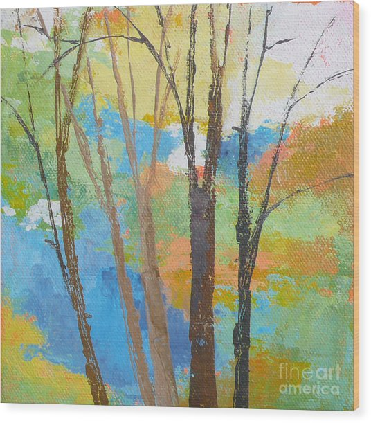 Woodland #1 Wood Print by Melody Cleary