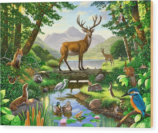 Woodland Harmony Wood Print