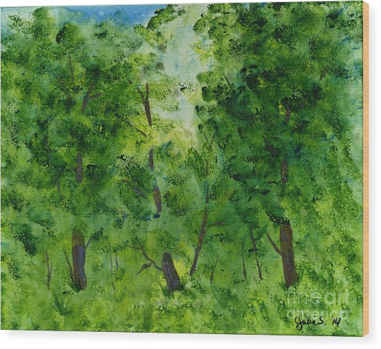 Woodland Haven Wood Print