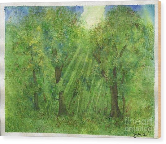 Woodland Reflections Wood Print