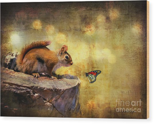 Wood Print featuring the photograph Woodland Wonder by Lois Bryan