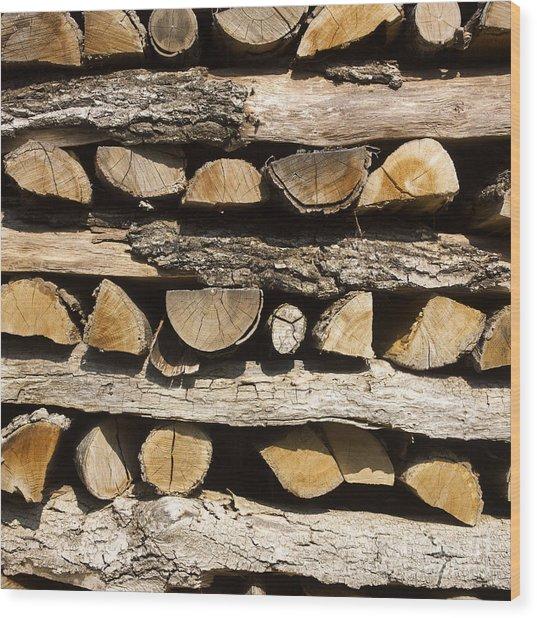 Woodpile. Wood Print
