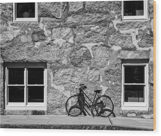 Woods Hole Bike Wall Wood Print