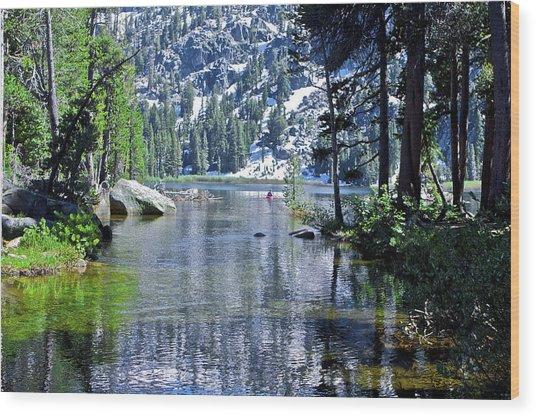 Woods Lake Wood Print